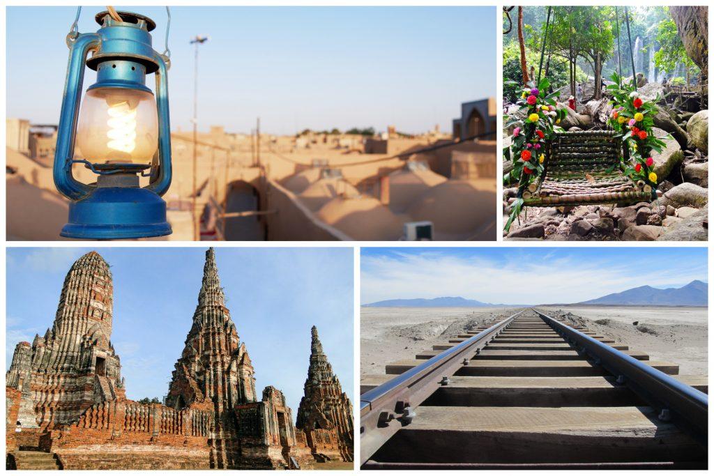 Mein Weg: Collage einiger Urlaubsbilder von früheren Reisen
