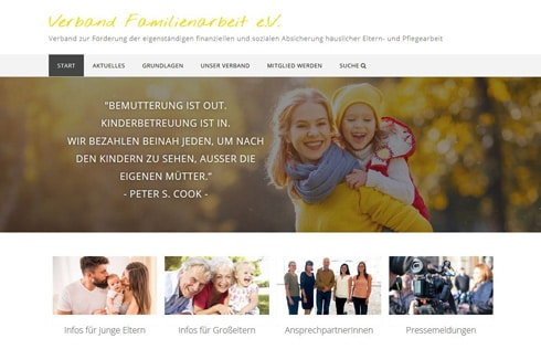 Website Verband Familienarbeit e.V.