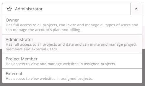 Nutzermanagement im Wincher SEO Tool